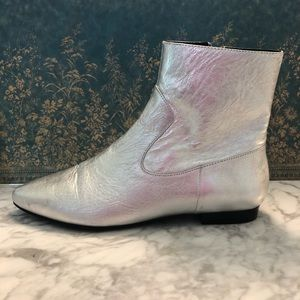 NWT - Zara Leather Chelsea Style Boots